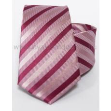 Rossini Prémium selyem nyakkendõ - Rózsaszín-pink csíkos