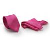 Zsorzsett szatén slim szett - Pink nyakkendő