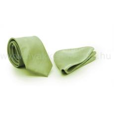 Zsorzsett szatén slim szett - Halványzöld