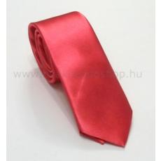 Szatén slim nyakkendõ - Lazac