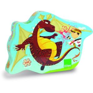 VILAC Lovag és sárkány puzzle fából (200 db-os)