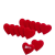 Love szív csipesz 4.5x2.5x4.1cm 12db