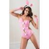 Softline 3 részes rózsaszín szexi nyuszi jelmez erotikus ruha