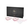 Bijoux Indiscrets Mimi Heart Red öntapadós szilokonos piros Mellbimbó Ékszer piros kristályokkal