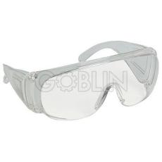 Lux Optical® Visilux védõszemüveg, víztiszta lencse, az oldalvédõn szellõzõnyílásokkal, 10 db
