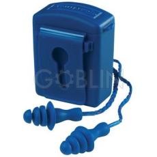 Earline® Lamellás kék, zsinóros, detektálható füldugó beépített acélgolyókkal, mosható (SNR...