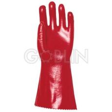 Euro Protection PVC MQ 36 cm-es, piros védõkesztyû, 10 pár