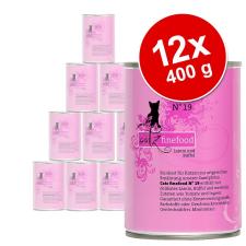 catz finefood gazdaságos csomag 12 x 400 g - Csirke & fácán macskaeledel