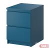 MALM 2-fiókos szekrény, türkiz C SALE PARTNER