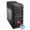 "CoolerMaster HAF 912 Advanced Black Black,4x5,25"",7x3,5"",4x2,5"",ATX,2xUSB2.0,2xUSB3.0,Audio,Táp nélkül,230x480x496mm ,eSata,Ventillátor:14cm + 12cm"