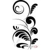 Fekete falmatrica - Indás #21