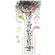 Hangjegy fa tapéta, díszléc és más dekoráció