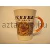 Kávé mintás bögre narancssárga fül