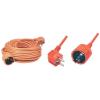 Narancs hálózati lengő hosszabbító, földelt 10m