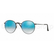 Ray-Ban ROUND METAL SHINY BLACK MIRROR GRADIENT BLUE napszemüveg