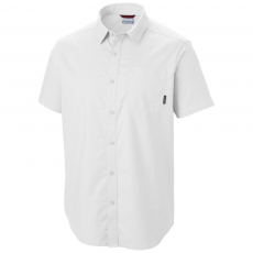Columbia Thompson Hill Solid Short Sleeve Shirt Ing D (1577601-o_100-White)
