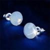 . Fülbevaló, Crystals from SWAROVSKI®, 1 kristályos, white opál, 8mm