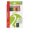 STABILO Színes ceruza készlet, háromszögletű, vastag, STABILO GreenTrio, 12 különböző szín (TST620312)