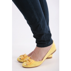 Impresszió Sárga masnis balerina cipő