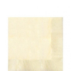 . Szalvéta, 2 rétegű, 33x33 cm, elefántcsontszínű