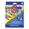STAEDTLER Rostirón készlet, 1 mm, , 24 különböző szín