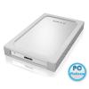 """RaidSonic IB-254U3 2,5"""" SATA USB3.0 HDD (9,5mm) White/Silver"""