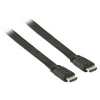 Valueline 2m HDMI - HDMI with Eth. lapos kábel, fekete