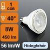 LED lámpa E27 (8Watt/40°) PAR20 - hideg fehér