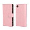 CRAZY notesz tok / flip tok - RÓZSASZÍN - asztali tartó funkciós, oldalra nyíló, rejtett mágneses záródás, bankkártyatartó zseb - SONY Xperia Z5 Compact