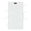 CRAZY notesz tok / flip tok - FEHÉR - asztali tartó funkciós, oldalra nyíló, rejtett mágneses záródás, bankkártya tartó zsebekkel, szilikon belsõs - Lenovo Vibe P1m