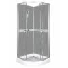 Kerra CLASSIC íves zuhanykabin szürke hátfallal, 79x79x210 cm-es méretben