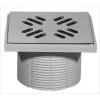 Padlószifon magasító réz fedlappal, 145x145mm (STY-506)