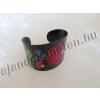 Fém fekete karperec virág motívummal