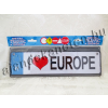 Rendszámtábla I Love Europe felirattal