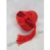 Piros szív fém díszdoboz 7 cm