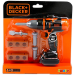 Smoby Black and Decker mechanikus fúrógép