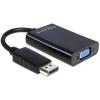 DELOCK Adapter Displayport male > VGA 15 pin female + Audio + Power (65439)