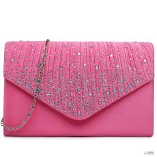 LY1682 - Miss Lulu London Structupirosgyémánt pöttyded Envelope Táska Clutch táska Plum
