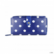 L1109D2 - Miss Lulu London Oilcloth pénztárca Polka Dot Navy