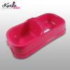 Kutyakiegészítő: Kutyatál kétrészes műanyag, rózsaszín színben