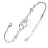 Ezüst karkötő cirkóniával (ES1213)