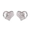 Ezüst fülbevaló cirkóniával (ES687)