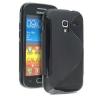 Samsung Galaxy Ace 2 i8160, TPU szilikon tok, S-Line, fekete