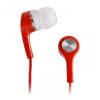 Fülhallgató, MP3 / MP4 Lejátszókhoz, 3,5 mm, Mini Jack el rendelkező készülékekhez, piros, MEGApro