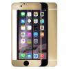 Apple iPhone 6 / 6S, Kijelzővédő fólia, ütésálló fólia, elő és hátlapi, Tempered Glass (edzett üveg), arany, Clear Prémium