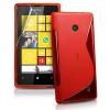 Nokia Lumia 520, TPU szilikon tok, S-Line, piros