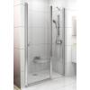 Ravak Chrome CSD2-120 kétrészes zuhanyajtó fehér kerettel, transparent edzett biztonságiüveggel