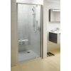 Ravak Pivot PDOP1-90 egyrészes kifelé nyíló zuhanyajtó szatén kerettel, transparent biztonsági üveggel
