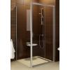 Ravak Blix BLDP2-100 toló rendszeru, kétrészes zuhanyajtó szatén kerettel, grapeedzett biztonságiüveg betéttel