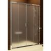 Ravak Blix BLDP4-140 toló rendszerű, négyrészes zuhanyajtó szatén kerettel, transparent edzett biztonságiüveg betéttel